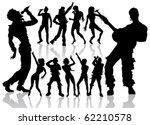 vector dancing and singing... | Shutterstock .eps vector #62210578