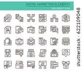 digital marketing elements   ... | Shutterstock .eps vector #622109048