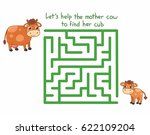 cartoon maze game for kids with ... | Shutterstock .eps vector #622109204