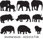 african three types shape of... | Shutterstock .eps vector #622111718