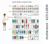 character creation for man | Shutterstock .eps vector #622112834