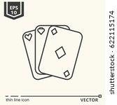 three cards. vector single icon.... | Shutterstock .eps vector #622115174