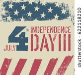 4th july independence day.... | Shutterstock .eps vector #622118210