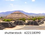 view from the pyramid of moon... | Shutterstock . vector #622118390