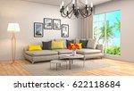interior living room. 3d... | Shutterstock . vector #622118684