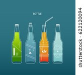 line beverage bottle vector... | Shutterstock .eps vector #622120094