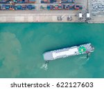 the busy of port congestion... | Shutterstock . vector #622127603