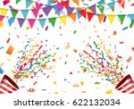 colorful flag  confetti and... | Shutterstock .eps vector #622132034