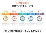 timeline infographics template... | Shutterstock .eps vector #622134233