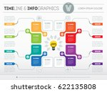 business concept with 8 options ... | Shutterstock .eps vector #622135808