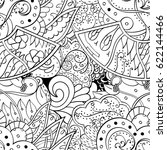 tracery seamless pattern.... | Shutterstock .eps vector #622144466