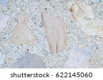 top view of old white terrazzo...   Shutterstock . vector #622145060