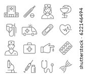 medicine and health symbols for ... | Shutterstock . vector #622146494