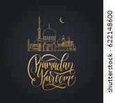 ramadan kareem greeting card... | Shutterstock .eps vector #622148600