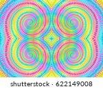 boho tie dye background. hippie ... | Shutterstock .eps vector #622149008