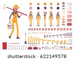 female worker character... | Shutterstock .eps vector #622149578