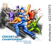 illustration of batsman and... | Shutterstock .eps vector #622150073