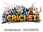 illustration of batsman and... | Shutterstock .eps vector #622150076