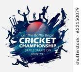 illustration of batsman and... | Shutterstock .eps vector #622150079