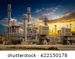 power plant station building on ... | Shutterstock . vector #622150178