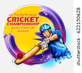 illustration of batsman playing ... | Shutterstock .eps vector #622150628