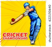 illustration of batsman playing ... | Shutterstock .eps vector #622150640