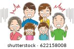 three generation families are... | Shutterstock .eps vector #622158008