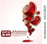 the vector abstract hearts... | Shutterstock .eps vector #62215825
