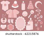 baby set. design element.... | Shutterstock .eps vector #62215876