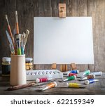 artist's workshop. canvas ... | Shutterstock . vector #622159349