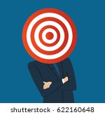 businessman with target archery ... | Shutterstock .eps vector #622160648