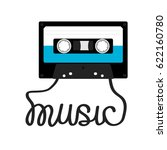 plastic audio tape cassette...   Shutterstock .eps vector #622160780