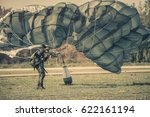 parachute attack airborne   us... | Shutterstock . vector #622161194