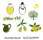 the set of elements of olive... | Shutterstock .eps vector #622162994
