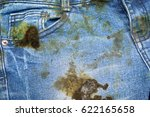 dirty black oil stain on jean texture
