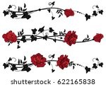 Vector Floral Set Of Dividers...