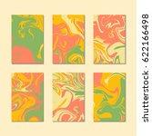 summer marble texture cards... | Shutterstock .eps vector #622166498