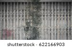 grunge stain on old steel... | Shutterstock . vector #622166903