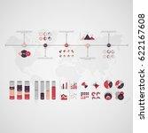 timeline vector infographic.... | Shutterstock .eps vector #622167608