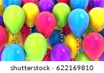 many balloons fly background ...   Shutterstock . vector #622169810