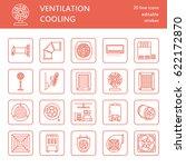 ventilation equipment line... | Shutterstock .eps vector #622172870