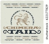 vintage font with textured... | Shutterstock .eps vector #622177829