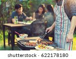 asian men are cooking for a... | Shutterstock . vector #622178180
