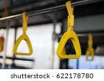 handle on ceiling of bus train  ...   Shutterstock . vector #622178780