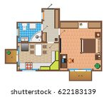 layout of the apartment with... | Shutterstock .eps vector #622183139