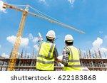 civil engineer checking work...   Shutterstock . vector #622183868