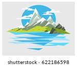 mountain landscape builder | Shutterstock .eps vector #622186598
