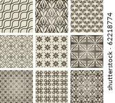 set of 9 seamless patterns.... | Shutterstock .eps vector #62218774