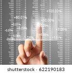 nvestment concept businessman... | Shutterstock . vector #622190183