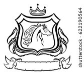 illustration with coat of arms...   Shutterstock .eps vector #622190564
